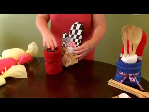 How to make a Kitchen Towel Gift Set (Housewarming)