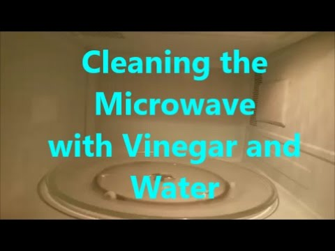 Cleaning the Microwave with Vinegar and Water