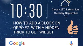 How to add widget in OPPO A37 and OPPO Phone | Music Jinni