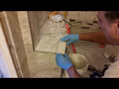 How To Tile  A Shower Bench - Part 2 - Step By Step - D.I.Y