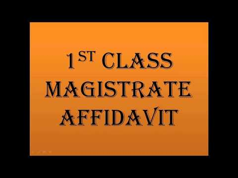 How to make 1st Class Magistrate Affidavit in India in Hindi