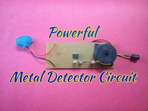 Make A Simple Metal Detector At Home..