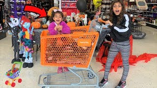 Deema SHOPPING for HALLOWEEN!! family fun vlog