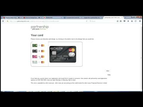 How to create account on John Lewis & Waitrose credit cards