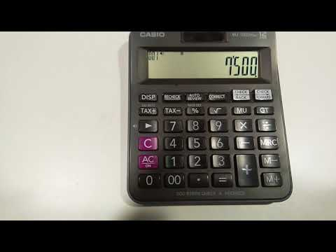 How to use Tax+ and Tax- button in Calculator in Hindi and Urdu