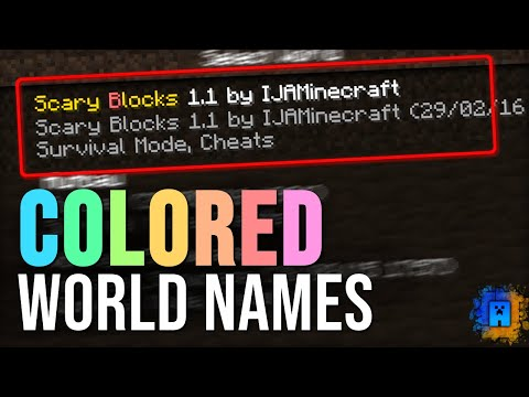 How to get Colored World Names in Minecraft