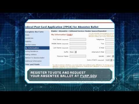 Roger That: Absentee Voter Registration