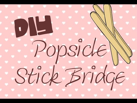How to Make a DIY Popsicle Stick Bridge! | Lilly