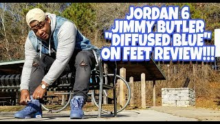 newest 77f8c 9621d Jordan 6 Jimmy Butler Diffused Blue On Feet Review!