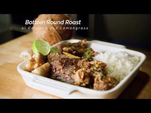 Thai Bottom Round Roast with Coconut and Lemongrass (ButcherBox Bottom Round Roast | Sear; Roast)