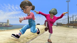 Scary Teacher 3D - Tani Get Crazy and Fell in Trouble With Miss'T - Funny game