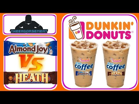 DUNKIN DONUTS® ALMOND JOY® VS HEATH BAR® ICED COFFEE REVIEW #277