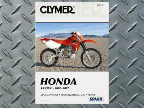 Clymer Manuals Honda XR650R XRR XR Manual Shop Service Repair Manual Maintenance Video