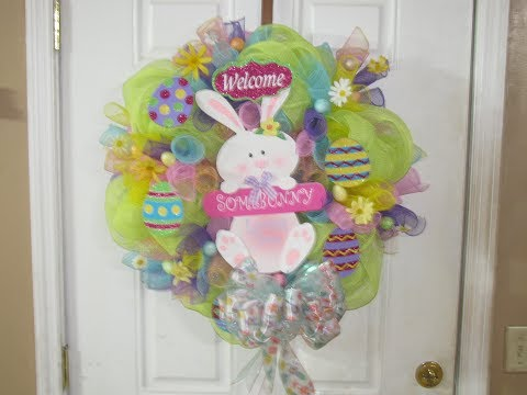 How To Make Carmen's SomeBunny Loves You Deco Mesh Wreath