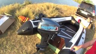 Первый запуск и обкатка лодочного мотора  Mikatsu 9.9 (Дневник рыболова)
