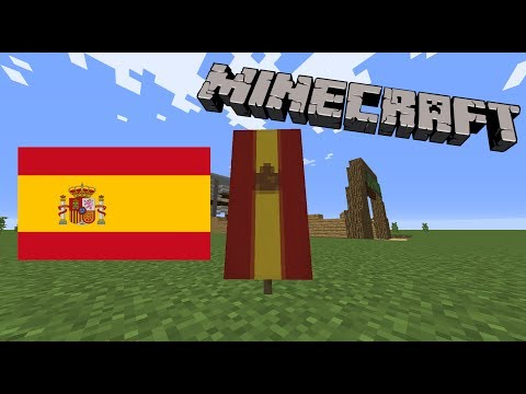 How to make the Spanish flag in Minecraft!