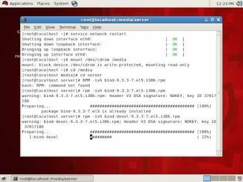 REDHAT 5 LINUX  DNS INSTALL.avi