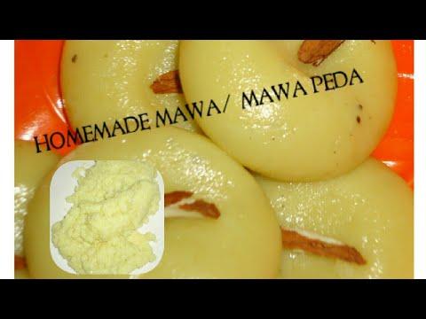 Instant Mawa Receipe / Mawa From Milk Powder/Mawa Peda Recipe  - Khoya Peda Recipe