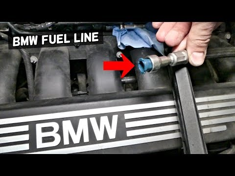 HOW TO DISCONNECT FUEL LINE ON BMW e90 e92 e60 e61 e82 e83 e85 e70 z4 e87