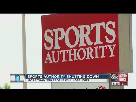 Sports Authority shutting down