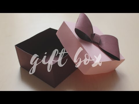 DIY: How to make a Gift Box | Easy Box for Gift | Easy craft for Fathers day