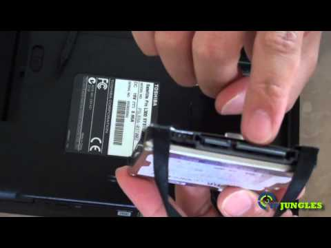 Toshiba Satellite Pro Laptop: How to Romove and Replace Hard Disk Drive