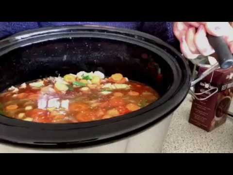 How Too Make Hamburger Soup in Slow cooker
