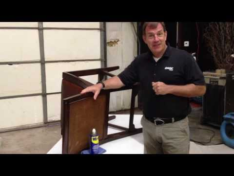 Smart Furniture Cleaning Tip - Disaster Plus Charleston - Removing Residue with WD40