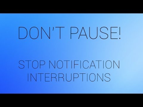 Android App - Don't Pause! Prevent Music Interuptions