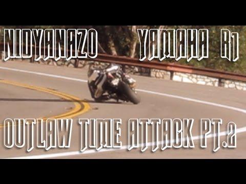 *GYROCAM* Yamaha R1 Layin' darkies; Outlaw Time Attack PT2- NIDYANAZO'S BIG Winter Film-ElbowDown!