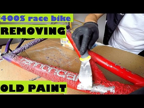 Removing Old Paint From My Cannondale F600 Mountain Bike. Striping Paint With SickBiker.