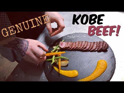 Cooking, Slicing & Eating Genuine Kobe Beef (in 4K)
