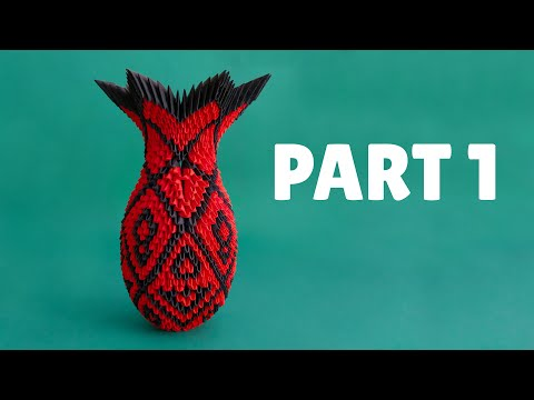 3D Origami Large Vase Tutorial - Part 1