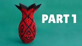3d Origami Large Vase Tutorial Part 1