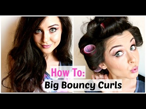 How To: Big Curly Hair Using Rollers | KatesBeautyStation