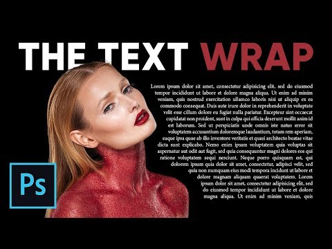 How to Wrap Text Around Image Like Magazines in Photoshop