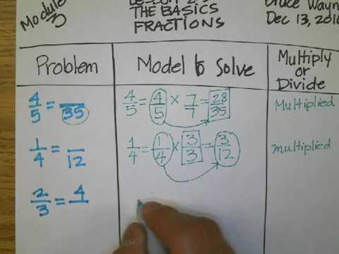 M3 Basics Finding Missing Numerator or Denominator