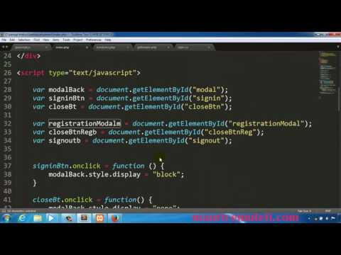 PHP Web Development How To Make A Website Tutorial 57 Close Modal By Window Click