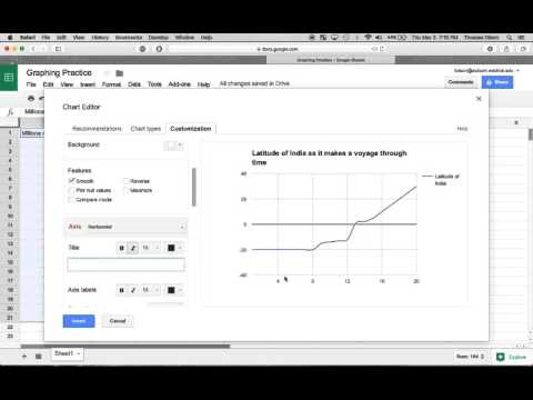 How to make a line graph Google Sheets