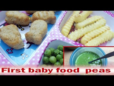 How to make First Baby Food peas updated 2017