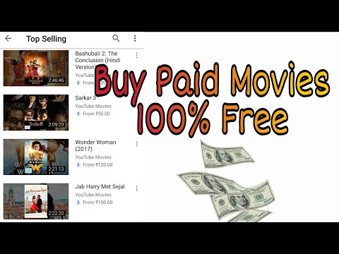How to Buy Paid Movies 100% Free || Youtube Paid Movies || Watch Online