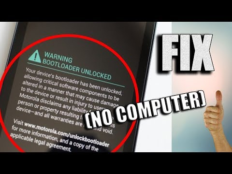 How To Remove / fix Bootloader Unlock Warning Message From Motorola devices (Moto X Play)