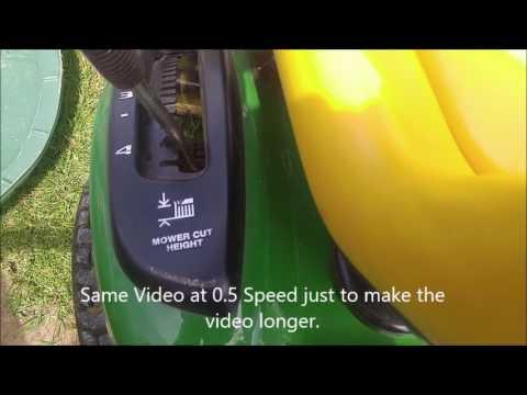 How To Lower Mower Cut Height On John Deere LA100 Riding Lawnmower