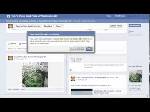 Scheduling Posts for Facebook Business Page