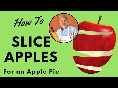 How to Slice Apples for an Apple Pie