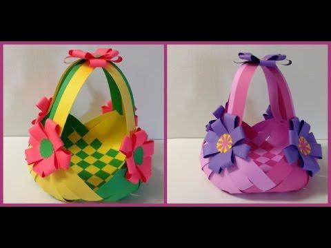 DIY paper basket for Easter #howto make #paper basket
