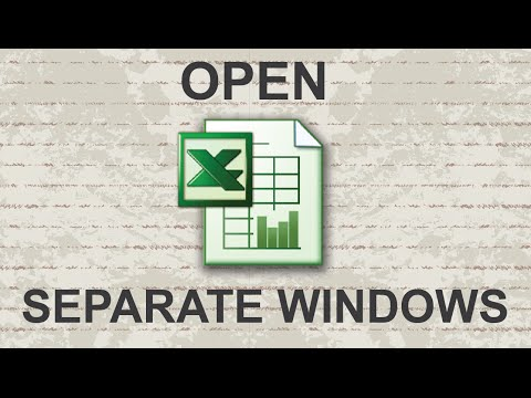 Open Excel in Separate Windows