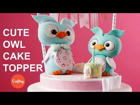 Cute Owl Animal Topper for Cakes | Figure Modeling Tutorial with Brenda Walton