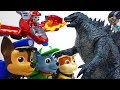 Get Bigger Paw Patrol Stop Romeo39s Giant Godzilla ToyMartTV