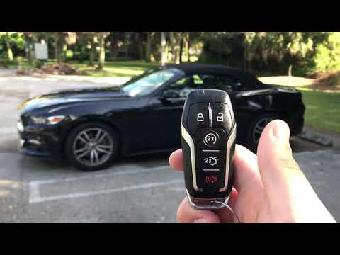 How to auto start a ford mustang with key remote FOB